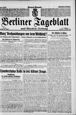 Berliner Tageblatt und Handels-Zeitung on Jan 9, 1925