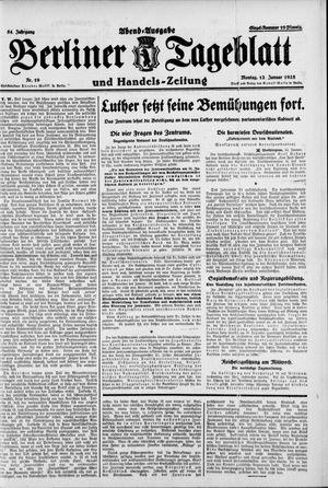 Berliner Tageblatt und Handels-Zeitung vom 12.01.1925