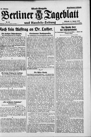 Berliner Tageblatt und Handels-Zeitung vom 14.01.1925