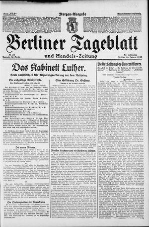 Berliner Tageblatt und Handels-Zeitung vom 16.01.1925