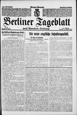 Berliner Tageblatt und Handels-Zeitung vom 18.01.1925