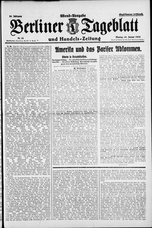 Berliner Tageblatt und Handels-Zeitung vom 19.01.1925
