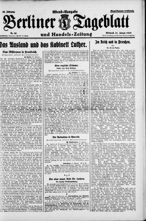 Berliner Tageblatt und Handels-Zeitung vom 21.01.1925