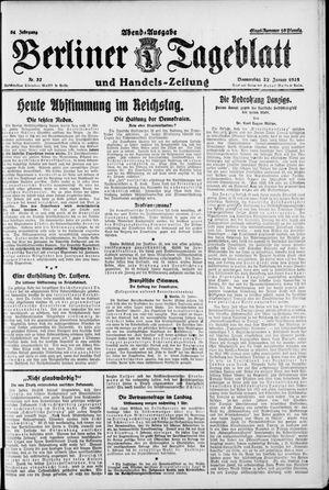 Berliner Tageblatt und Handels-Zeitung vom 22.01.1925