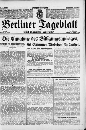 Berliner Tageblatt und Handels-Zeitung vom 23.01.1925