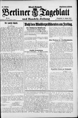 Berliner Tageblatt und Handels-Zeitung vom 24.01.1925