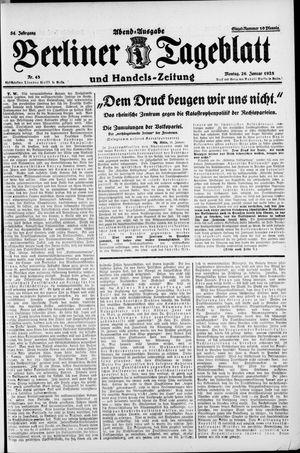 Berliner Tageblatt und Handels-Zeitung vom 26.01.1925
