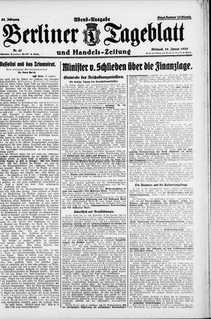 Berliner Tageblatt und Handels-Zeitung vom 28.01.1925