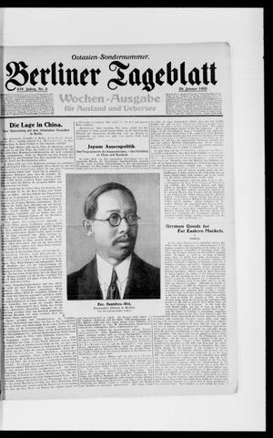 Berliner Tageblatt und Handels-Zeitung vom 29.01.1925