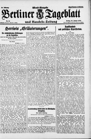 Berliner Tageblatt und Handels-Zeitung vom 30.01.1925