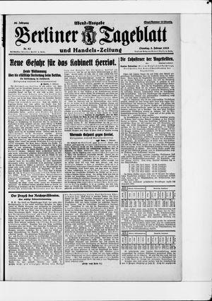 Berliner Tageblatt und Handels-Zeitung vom 03.02.1925