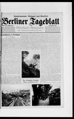 Berliner Tageblatt und Handels-Zeitung vom 05.02.1925