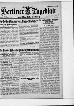 Berliner Tageblatt und Handels-Zeitung vom 07.02.1925