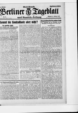 Berliner Tageblatt und Handels-Zeitung vom 11.02.1925