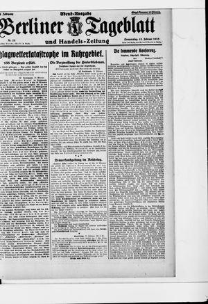 Berliner Tageblatt und Handels-Zeitung vom 12.02.1925
