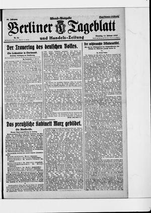 Berliner Tageblatt und Handels-Zeitung vom 17.02.1925