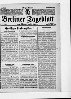 Berliner Tageblatt und Handels-Zeitung vom 20.02.1925
