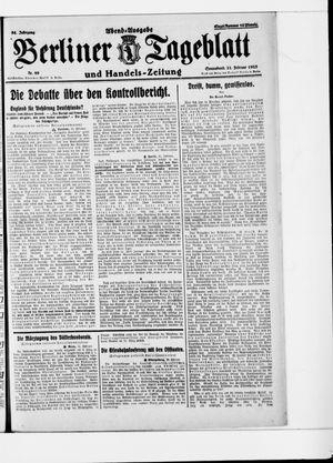 Berliner Tageblatt und Handels-Zeitung vom 21.02.1925