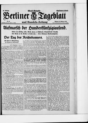 Berliner Tageblatt und Handels-Zeitung vom 23.02.1925