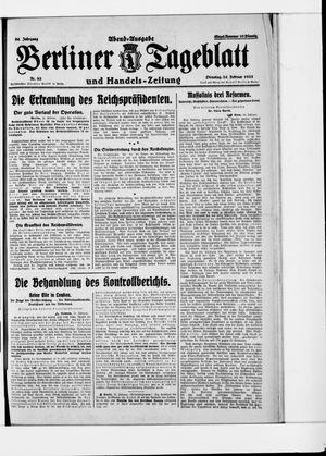 Berliner Tageblatt und Handels-Zeitung vom 24.02.1925