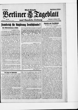 Berliner Tageblatt und Handels-Zeitung vom 25.02.1925