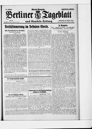 Berliner Tageblatt und Handels-Zeitung vom 26.02.1925