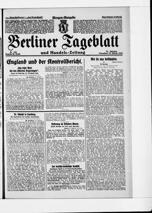 Berliner Tageblatt und Handels-Zeitung on Feb 28, 1925