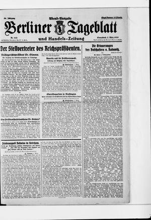 Berliner Tageblatt und Handels-Zeitung vom 07.03.1925