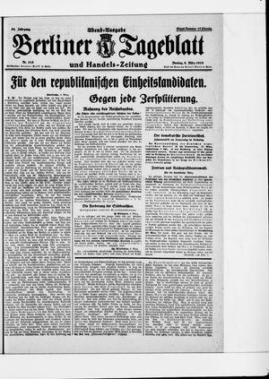 Berliner Tageblatt und Handels-Zeitung vom 09.03.1925