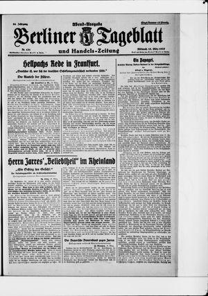 Berliner Tageblatt und Handels-Zeitung vom 18.03.1925