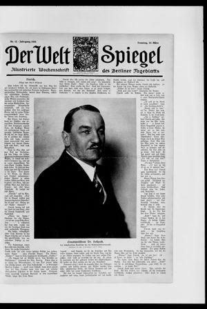 Berliner Tageblatt und Handels-Zeitung vom 22.03.1925