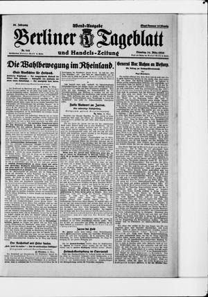 Berliner Tageblatt und Handels-Zeitung vom 24.03.1925
