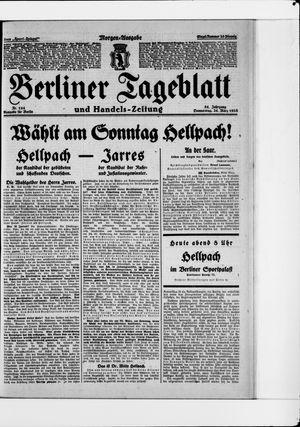 Berliner Tageblatt und Handels-Zeitung vom 25.03.1925