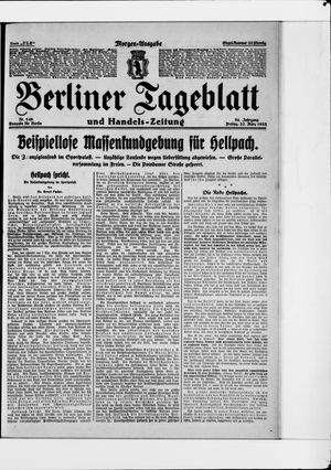 Berliner Tageblatt und Handels-Zeitung on Mar 27, 1925