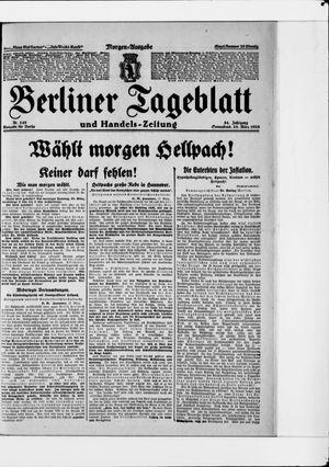 Berliner Tageblatt und Handels-Zeitung vom 28.03.1925