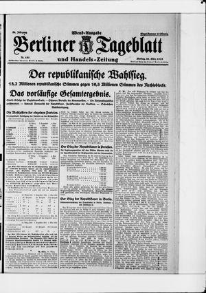 Berliner Tageblatt und Handels-Zeitung vom 30.03.1925