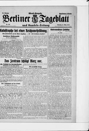 Berliner Tageblatt und Handels-Zeitung vom 31.03.1925