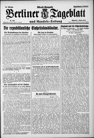 Berliner Tageblatt und Handels-Zeitung vom 01.04.1925