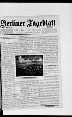 Berliner Tageblatt und Handels-Zeitung vom 02.04.1925