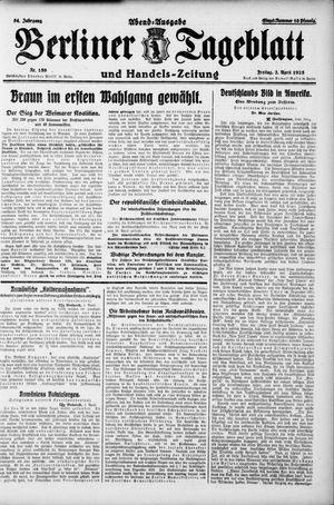 Berliner Tageblatt und Handels-Zeitung vom 03.04.1925