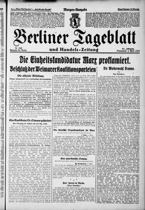 Berliner Tageblatt und Handels-Zeitung on Apr 4, 1925