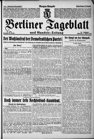 Berliner Tageblatt und Handels-Zeitung on Apr 8, 1925