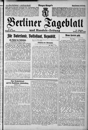 Berliner Tageblatt und Handels-Zeitung vom 10.04.1925