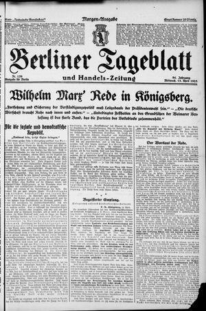 Berliner Tageblatt und Handels-Zeitung vom 15.04.1925