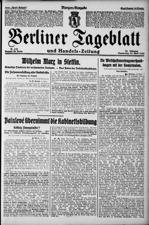 Berliner Tageblatt und Handels-Zeitung vom 16.04.1925