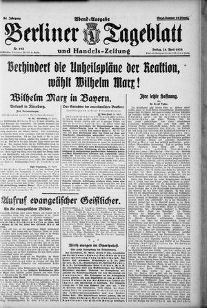 Berliner Tageblatt und Handels-Zeitung vom 24.04.1925