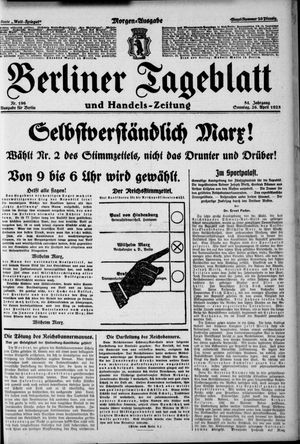 Berliner Tageblatt und Handels-Zeitung on Apr 26, 1925