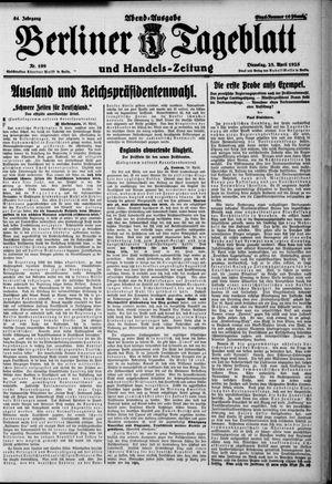 Berliner Tageblatt und Handels-Zeitung vom 28.04.1925