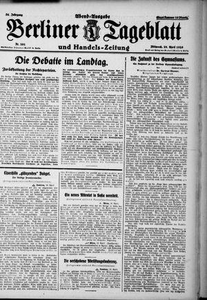 Berliner Tageblatt und Handels-Zeitung vom 29.04.1925