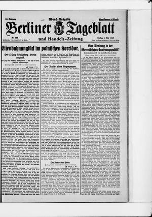 Berliner Tageblatt und Handels-Zeitung vom 01.05.1925